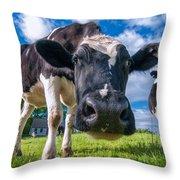 Simply Cows Throw Pillow
