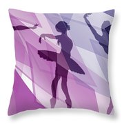 Simply Dancing 1 Throw Pillow by Angelina Tamez