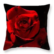 Simply Red Rose Throw Pillow