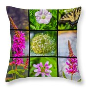 Simply Summer Wildflowers Throw Pillow
