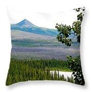 Simpson Peak At Swan Lake-yt Throw Pillow