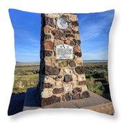 Simpson Springs Pony Express Station Monument - Utah Throw Pillow
