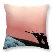 Simulated Ground Attack, Osan Air Base Throw Pillow