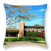 Sinatra Home Palm Springs Throw Pillow by William Dey