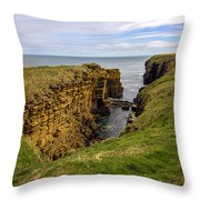 Sinclair Castle Scotland -1 Throw Pillow