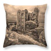 Sinclair Castle Scotland - 2 Throw Pillow