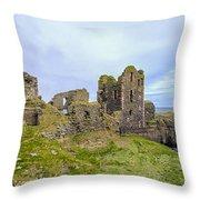 Sinclair Castle Scotland - 3 Throw Pillow
