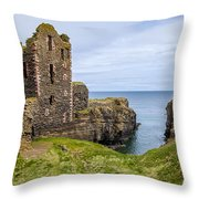 Sinclair Castle Scotland - 4 Throw Pillow