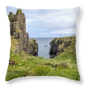 Sinclair Castle Scotland - 5 Throw Pillow
