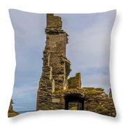 Sinclair Castle Scotland - 6 Throw Pillow