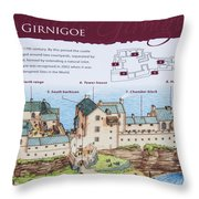 Sinclair Castle Scotland - 8 Throw Pillow