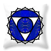 Sing A Song Of Eternity Abstract Chakra Art By Omaste Witkowski Throw Pillow
