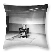 Sing Sing Electric Chair Throw Pillow
