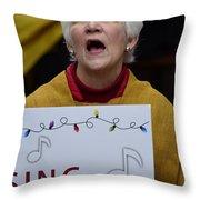 Sing Sing Throw Pillow
