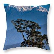 Singalila Ridge Sikkim Throw Pillow