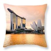 Singapore - Marina Bay Sand Throw Pillow