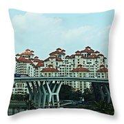 Singapore 11 Throw Pillow