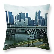 Singapore 14 Throw Pillow