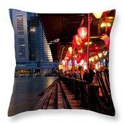 Singapore Boat Quay 03 Throw Pillow