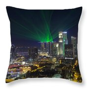 Singapore Central Business District Skyline Throw Pillow
