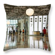 Singapore Changi Airport 02 Throw Pillow by Rick Piper Photography