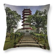 Singapore Chinese Garden Pagoda Throw Pillow