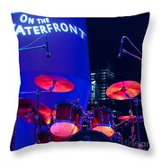 Singapore Drum Set 01 Throw Pillow by Rick Piper Photography
