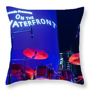 Singapore Drum Set 02 Throw Pillow by Rick Piper Photography