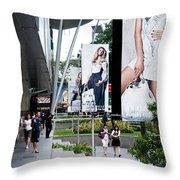 Singapore Orchard Road 02 Throw Pillow