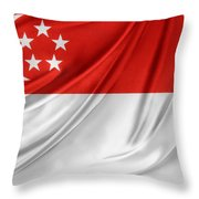 Singaporean Flag Throw Pillow