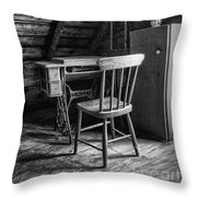 Singer In The Attic Throw Pillow