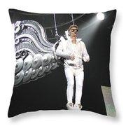 Singer Justin Bieber Throw Pillow