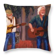 Singing For The Angels Throw Pillow