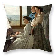Singing A Ditty Throw Pillow