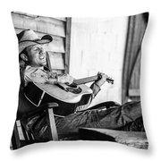 Singing Cowboy Throw Pillow