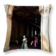 Singing For Supper Throw Pillow