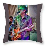 Singing In Austin Throw Pillow