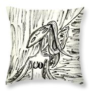 Singing In A Dream Throw Pillow