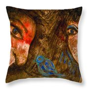 Singing Love Bird Throw Pillow