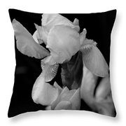 Singing Praise In Black And White Throw Pillow