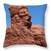 Singing Rock At Arches Np Throw Pillow