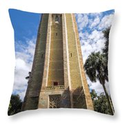 Singing Tower House Side View Throw Pillow