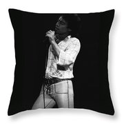 Singing With His Heart And Soul Throw Pillow
