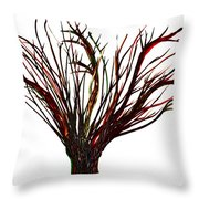 Single Bare Tree Isolated Throw Pillow