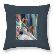 Single Fairy Throw Pillow