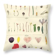 Single Flower Parts Throw Pillow