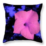 Single Pink Cactus Flower Throw Pillow