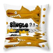 Single Shark Pop Art Throw Pillow by Pepita Selles