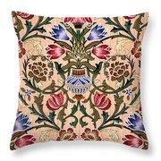 Single Stem Wallpaper Design, 1905 Throw Pillow