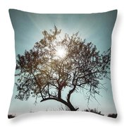 Single Tree Throw Pillow